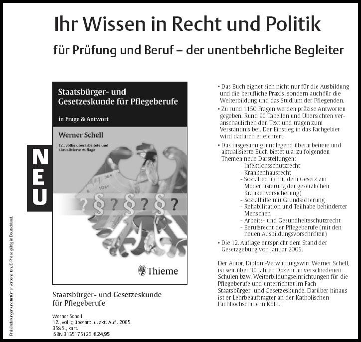 Staatsbürger- und Gesetzeskunde für Pflegeberufe - Tipp - Pro Pflege ...